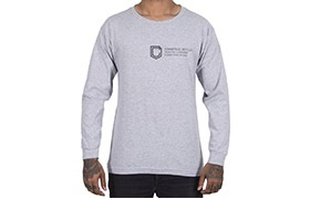 COMMENCAL LONG SLEEVE SHIELD T-SHIRT HEATHER GREY 2019