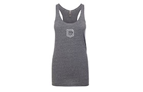 COMMENCAL GIRL SHIELD TANK TOP ASH HEATHER