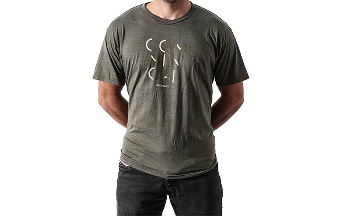 T-SHIRT 3 LINES OLIVE