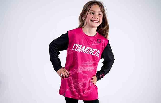 COMMENCAL KID TRIKOT CUSTOM PINK