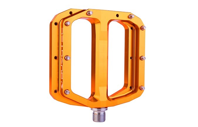 BURGTEC PENTHOUSE FLAT MK4 PEDALE IRON BRO ORANGE