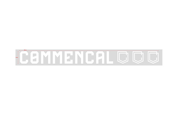 COMMENCAL OUTDOOR STICKER KLEIN WHITE