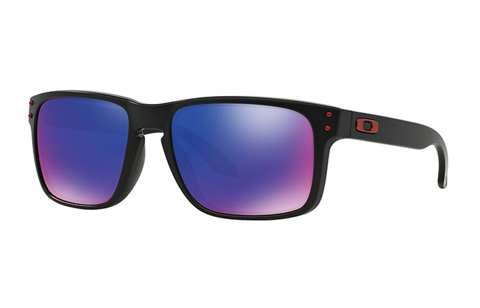 OAKLEY SLIVER MATTE BLACK MM/RED IRIDIUM