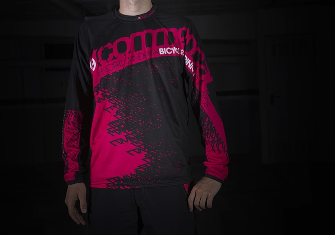 JERSEY AM/DH LONG SLEEVE PINK 2014