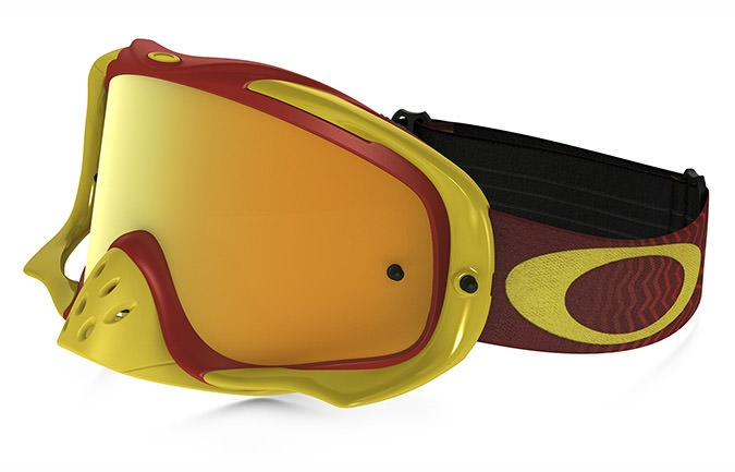 OAKLEY CROWBAR SHOCKWAVE ROT/GELB, 24K IRIDIUM