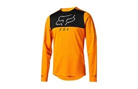 FOX FLEXAIR DELTA LANGARM TRIKOT OPEN ORANGE 2019