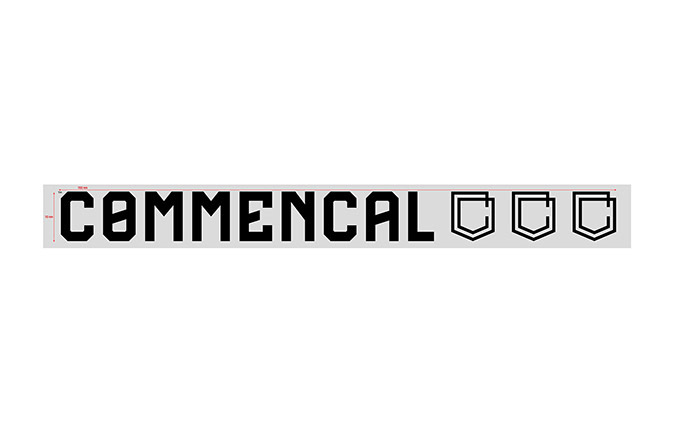 COMMENCAL OUTDOOR STICKER KLEIN BLACK