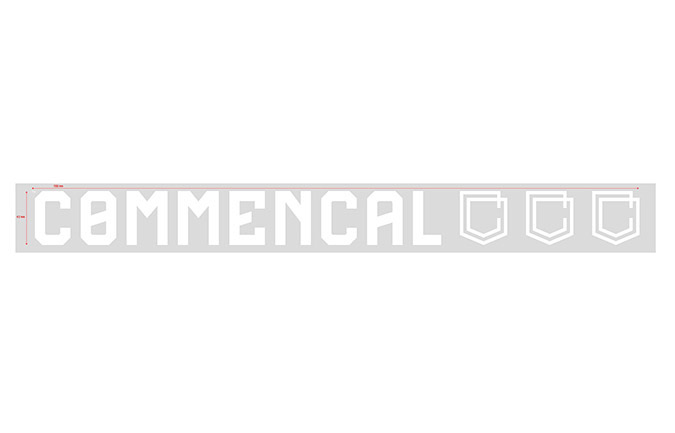COMMENCAL OUTDOOR STICKER GROSS WHITE