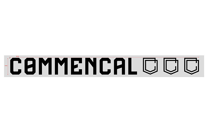 COMMENCAL OUTDOOR STICKER GROSS SCHWARZ