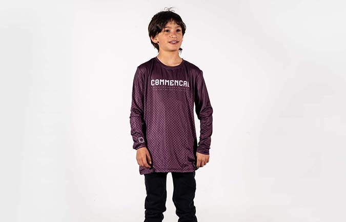 COMMENCAL KIDS TRIKOT POMPON PURPLE