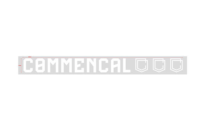 COMMENCAL INDOOR STICKER KLEIN WHITE