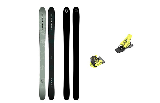 COMMENCAL CLASH SKIS GREEN + BINDUNG TYROLIA 11 YELLOW PACK